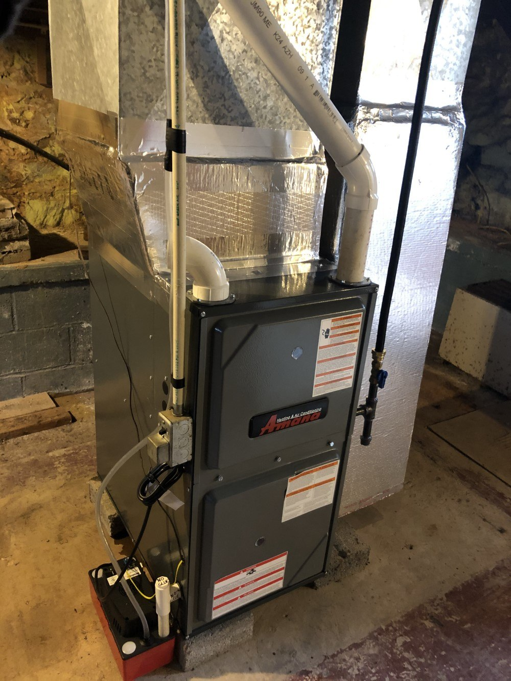 Replace old Fuel Oil Furnace with New LP Gas Furnace and Duct Cleaning Fayetteville, PA